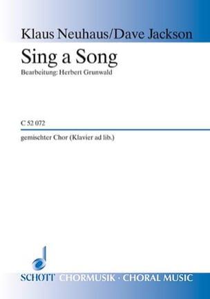 Sing A Song Satb Jackson Partition Chœur - laflutedepan