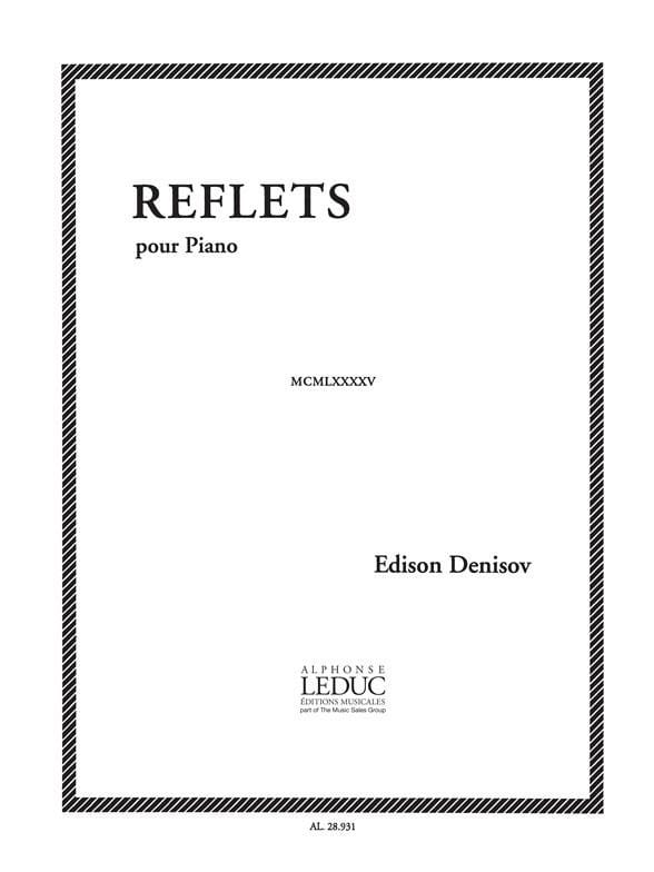 Reflets - Edison Denisov - Partition - Piano - laflutedepan.com