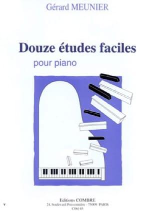 12 Etudes Faciles - Gérard Meunier - Partition - laflutedepan.com