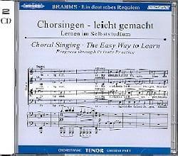 Ein Deutsches Requiem Opus 45. Voix Ténor 2 CD BRAHMS laflutedepan