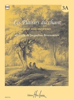 Les Plaisirs Du Chant Volume 3a. Voix Moyenne Partition laflutedepan