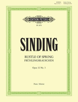 Rustle Of Spring Opus 32-3 Christian Sinding Partition laflutedepan