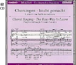 Ein Deutsches Requiem Opus 45. 2 CD Alto BRAHMS Partition laflutedepan