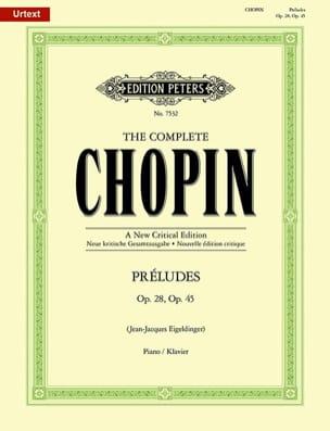 Préludes Opus 28 et 45. CHOPIN Partition Piano - laflutedepan