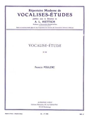 Vocalise Etude N° 89 POULENC Partition Mélodies - laflutedepan