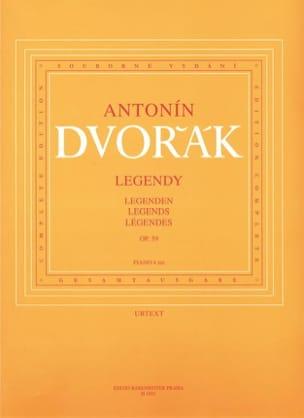 Légendes Opus 59. 4 Mains DVORAK Partition Piano - laflutedepan