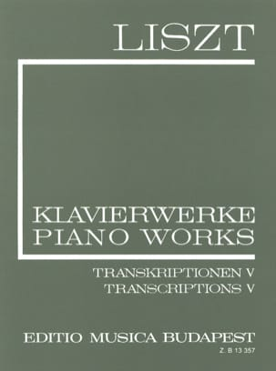 Transcriptions Diverses Série 2, Volume 20 - LISZT - laflutedepan.com