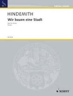 Wir Bauen Eine Stadt 1930 HINDEMITH Partition laflutedepan
