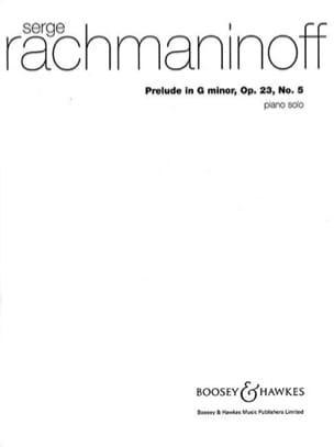 Prélude en sol mineur Opus 23-5 RACHMANINOV Partition laflutedepan
