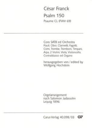 Psaume 150 Fwv 69 FRANCK Partition Chœur - laflutedepan