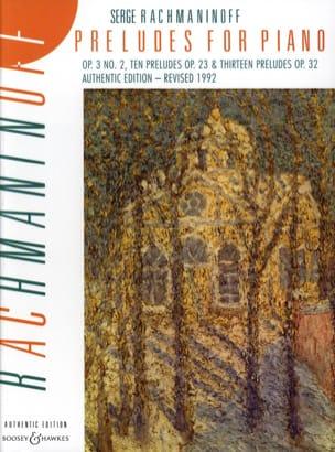 Préludes for Piano RACHMANINOV Partition Piano - laflutedepan