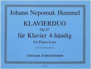 Klavierduo Op. 87 HUMMEL Partition Piano - laflutedepan