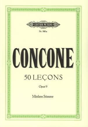 50 Leçons Opus 9 Voix Moyenne Giuseppe Concone Partition laflutedepan
