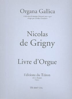 Livre D'orgue. Nicolas de Grigny Partition Orgue - laflutedepan