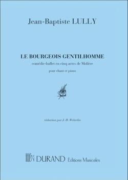 Le Bourgeois Gentilhomme. LULLY Partition Opéras - laflutedepan