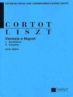 Venezia e Napoli LISZT Partition Piano - laflutedepan