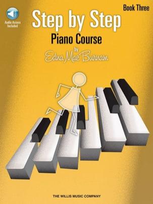 Step by Step Piano Course Volume 3 + CD Edna-Mae Burnam laflutedepan