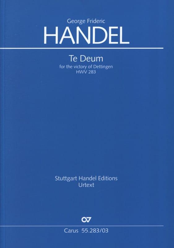 Dettingen Te Deum HWV 283 - HAENDEL - Partition - laflutedepan.com
