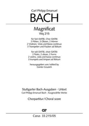 Magnificat. Wq 215. Choeur seul Carl-Philipp Emanuel Bach laflutedepan