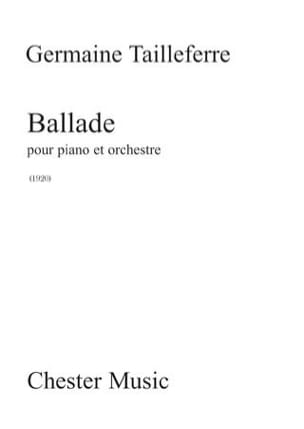 Ballade. 2 Pianos Germaine Tailleferre Partition Piano - laflutedepan