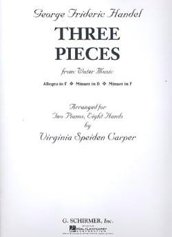 3 Pièces. 2 Pianos 8 Mains HAENDEL Partition Piano - laflutedepan