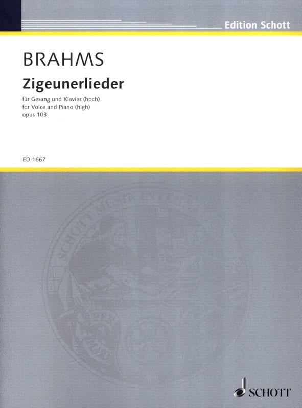 8 Zigeunerlieder Opus 103. Voix Haute - BRAHMS - laflutedepan.com