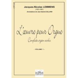 Oeuvre Pour Orgue Volume 1 Nicolas-Jacques Lemmens laflutedepan
