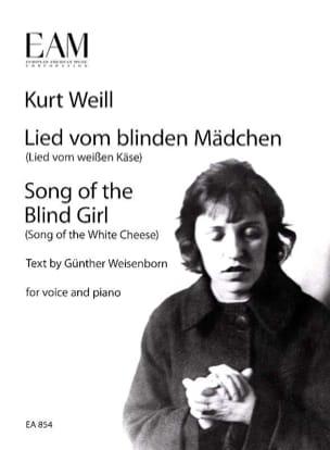 Lied vom blinden Mädchen WEILL Partition Mélodies - laflutedepan
