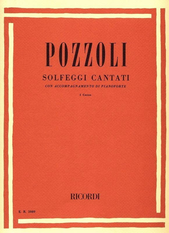 Solfeggi Cantati Volume 1 - Ettore Pozzoli - laflutedepan.com