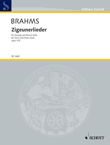 8 Zigeunerlieder Opus 103. Voix Grave - BRAHMS - laflutedepan.com