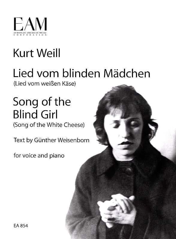 Lied vom blinden Mädchen - WEILL - Partition - laflutedepan.com