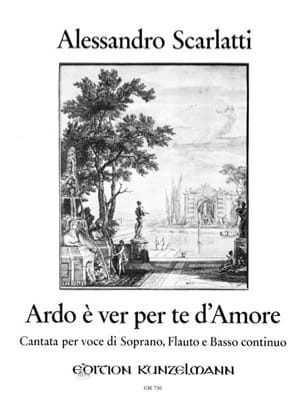Ardo E Ver Per te d' Amore Alessandro Scarlatti Partition laflutedepan
