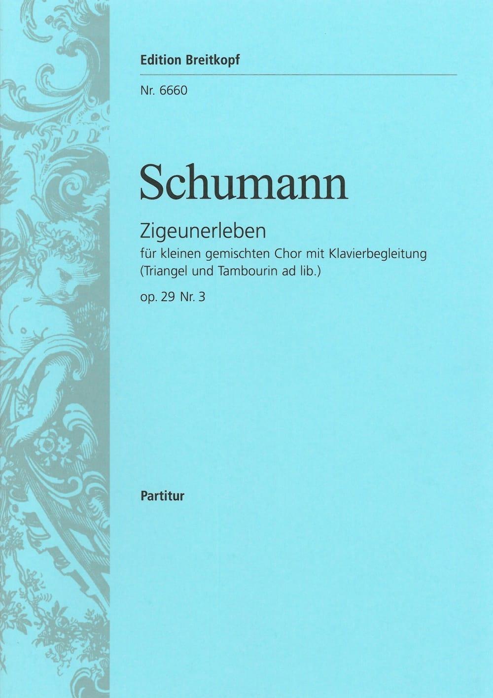 Zigeunerleben Opus 29-3 - SCHUMANN - Partition - laflutedepan.com
