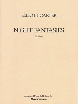 Night Fantasies Elliott Carter Partition Piano - laflutedepan