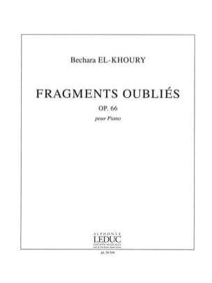 Fragments Oubliés Op. 66 Bechara El-Khoury Partition laflutedepan