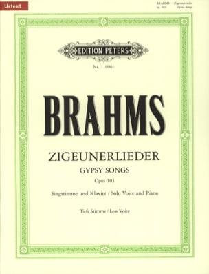 BRAHMS - 8 Zigeunerlieder Op. 103. Serious Voice - Partition - di-arezzo.com