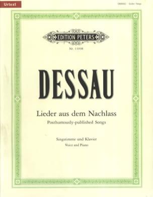 Lieder Aus Dem Nachlass - Paul Dessau - Partition - laflutedepan.com