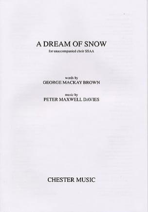 Dream of snow Davies Peter (Sir) Maxwell Partition laflutedepan