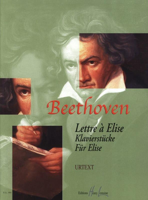 Lettre à Elise - BEETHOVEN - Partition - Piano - laflutedepan.com