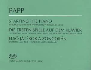 Starting The Piano Lajos Papp Partition Piano - laflutedepan