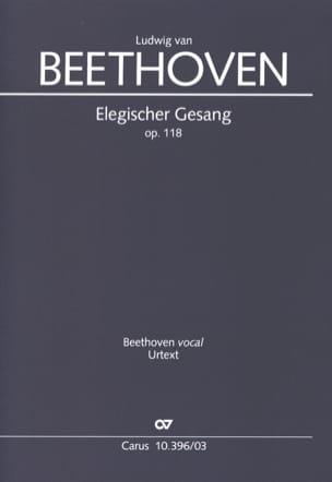 Elegischer Gesang Opus 118 BEETHOVEN Partition Chœur - laflutedepan