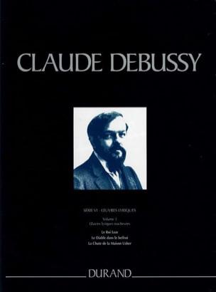 Oeuvres Lyriques. Série 6 Volume 3 DEBUSSY Partition laflutedepan