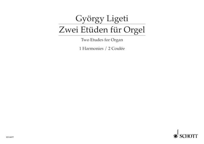 2 Etudes - LIGETI - Partition - Orgue - laflutedepan.com