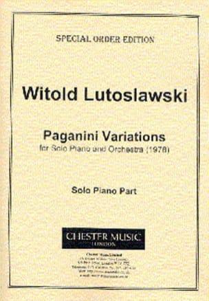 Paganini Variations - LUTOSLAWSKI - Partition - laflutedepan.com