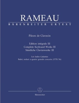 Jean-Philippe Rameau - Clavecich Partes Volumen 3 - Partition - di-arezzo.es