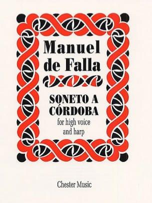 Soneto A Cordoba DE FALLA Partition Harpe - laflutedepan