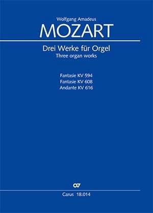 Drei Werke für Orgel MOZART Partition Orgue - laflutedepan