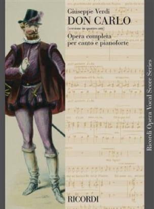 Don Carlo Version En 4 Actes - VERDI - Partition - laflutedepan.com