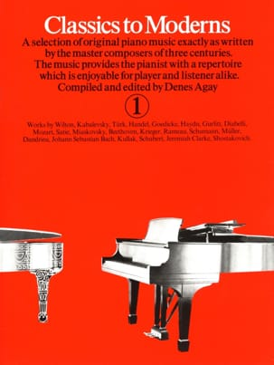 Classics To Moderns Volume 1 Partition Piano - laflutedepan