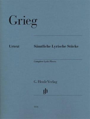 Pièces lyriques Complet GRIEG Partition Piano - laflutedepan
